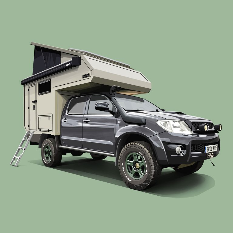 Motorhomes-Toyota-Hilux-Vigo-Camper
