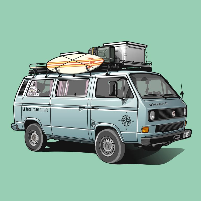 Vanlife-VW-T3-Free-road-of-life