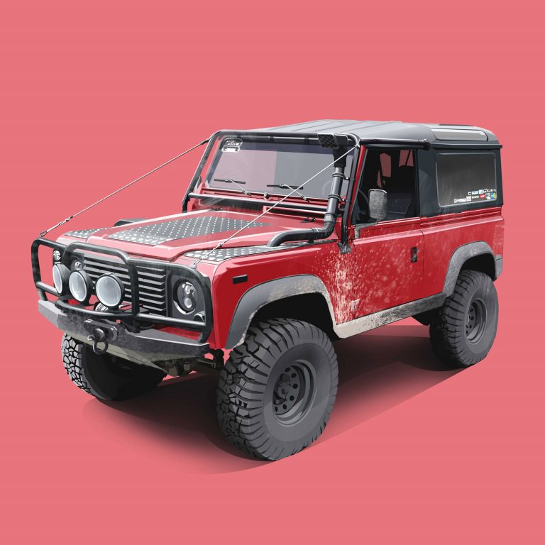 Expeditions-Vehicle-Red-Defender-90