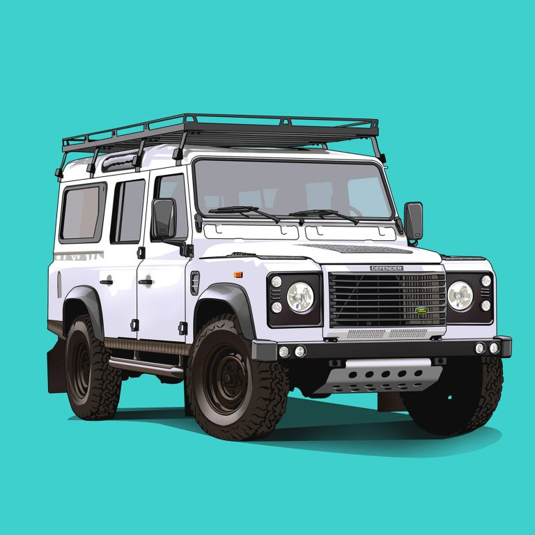 Offroad-Cars-Land-Rover-Defender-110-White