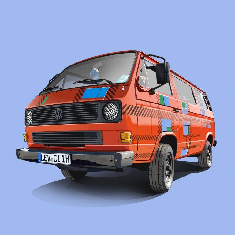 Vanlife-Volkswagen-T3-Orange